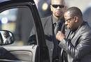 Brown leaves funeral service of ex-wife, pop singer Houston, at New Hope Baptist Church in Newark