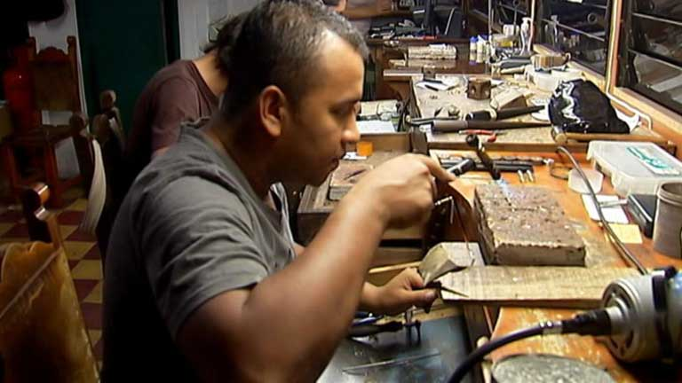 Buscadores de oro en Colombia