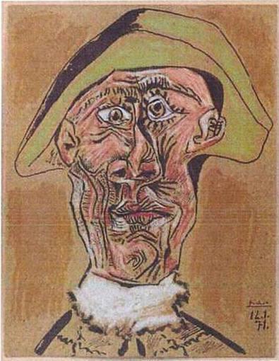 """""""Cabeza de Arlequín"""", de Pablo Picasso,"""