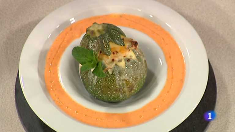 Cocina con Sergio - Calabacín relleno gratinado