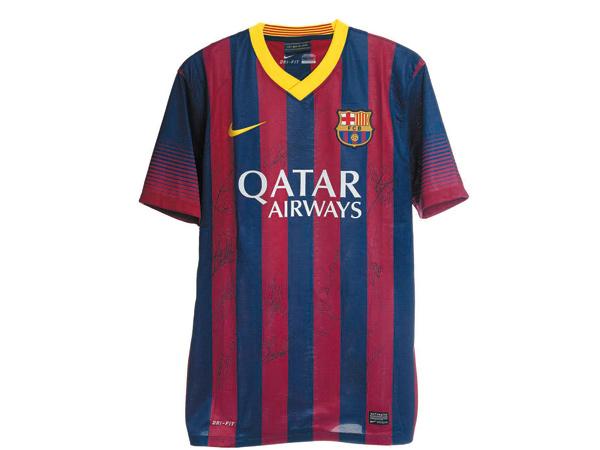 Camiseta del Barsa firmada por los jugadores