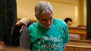Ver vídeo  'Las camisetas verdes en defensa de la educación pública llega al Congreso'