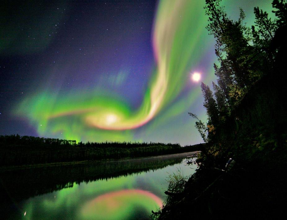 En Canadá, la aurora sobre la ciudad de Whitehorse dejó estas imágenes en el mes de septiembre. REUTERS/Courtesy