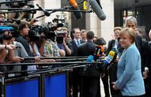 La canciller Angela Merkel se ha negado una vez más a los eurobonos
