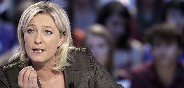 La candidata del Frente Nacional y presidenta del partido, Marine Le Pen