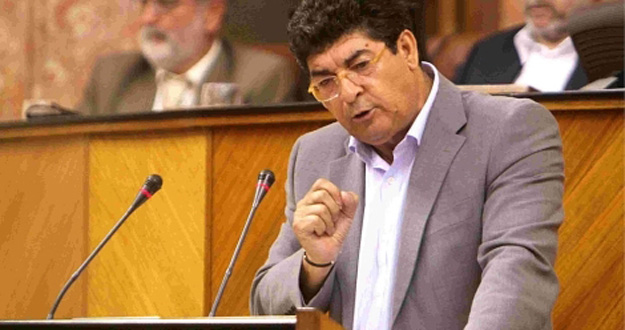El candidato de IU a la Presidencia de la Junta de Andalucía, Diego Valderas