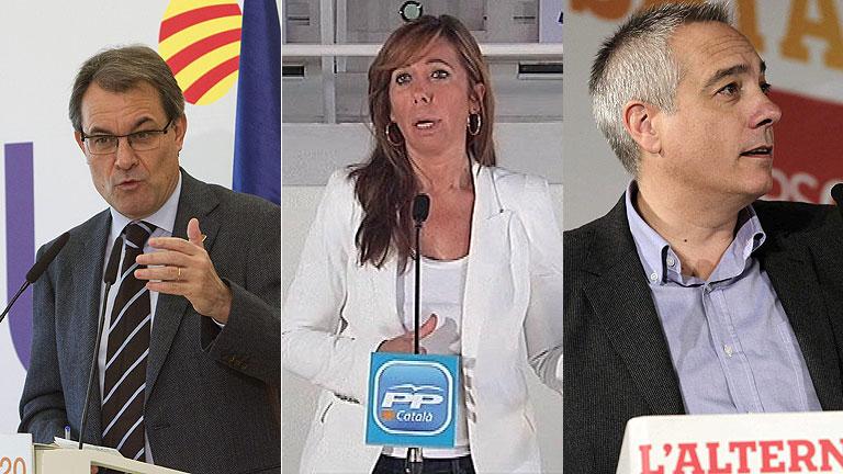 Los candidatos catalanes continúan con la precampaña a menos de un mes de las elecciones