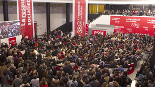 Ver vídeo  'Los candidatos Rubalcaba y Chacón presentan sus avales en el 38 Congreso del PSOE'