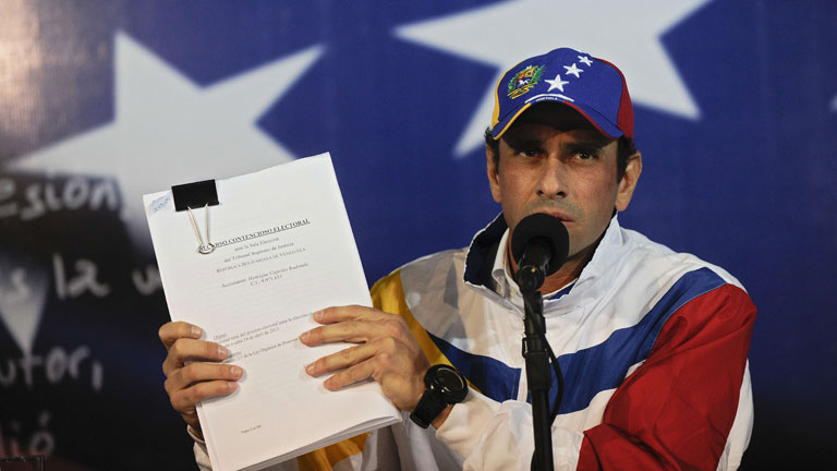 Capriles invita a adherirse a recursos de impugnacin legal de las elecciones