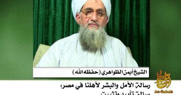 Captura del vídeo en el que Al-Zawahiri ha reivindicado el secuestro de un activista estadounidense