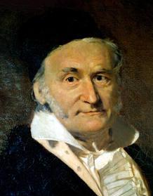 El matemático, físico y astrónomo alemán Carl Friedrich Gauss