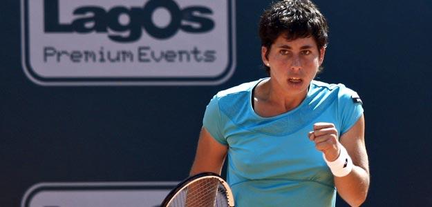 La tenista española Carla Suárez Navarro, en Estoril