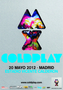 Cartel del concierto de Coldplay en Madrid
