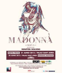 Cartel del concierto de Madonna