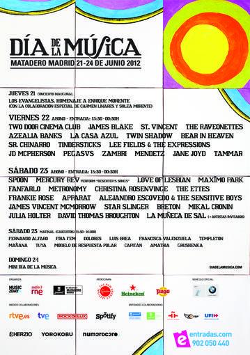 cartel dia de la musica 2012