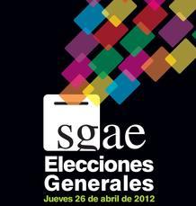 Cartel de las elecciones generales de la SGAE