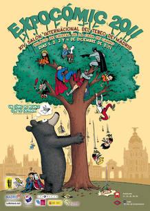 Cartel de Expocómic 2011, de Emile Bravo
