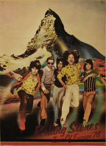 Cartel de la gira Europea de The Rollng Stones de 1976