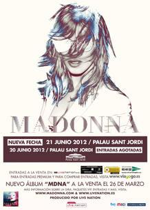 Cartel de la gira de Madonna