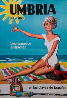 Cartel de José Oliver de la marca 'Umbría'