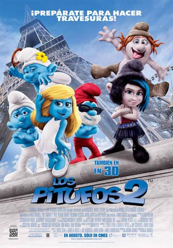 Cartel de 'Los Pitufos 2'