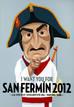 Cartel de Sanfermines 2012, de David Alegría