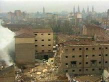 Casa Cuartel de Zaragoza, después del atentado de diciembre del 87