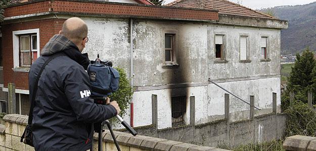 Casa de Portugalete en la que ha muerto un varón de 45 años tras el incendio