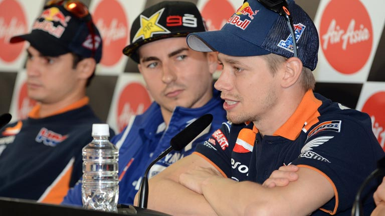 Casey Stoner, juez entre Lorenzo y Pedrosa