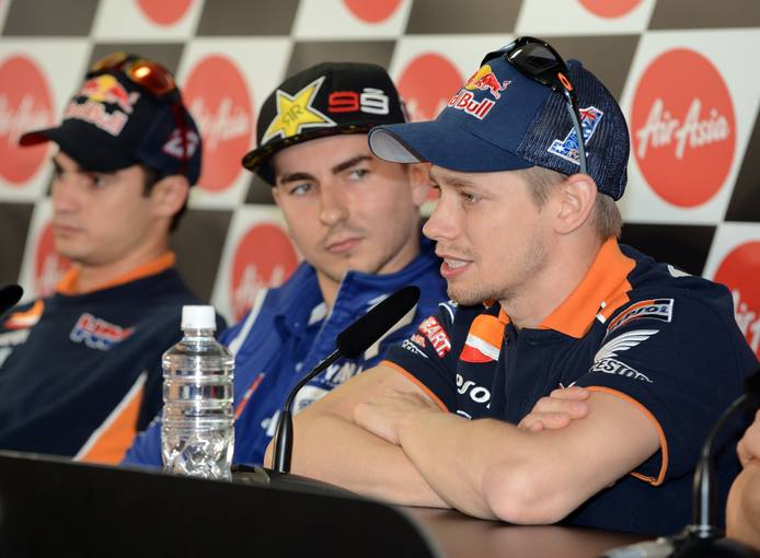 Casey Stoner podr&iacute;a interponerse en la lucha entre Lorenzo y Pedrosa en Australia