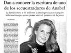 El caso de Anabel en los periódicos