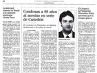 El caso del asesino de Castellón en los periódicos