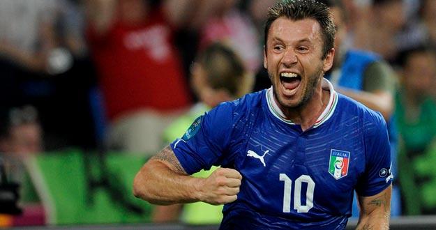 Cassano, autor del gol italiano ante Irlanda