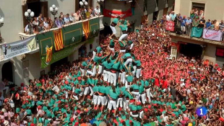 España a ras de cielo - Castellers