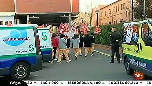 Ver vídeo  'Castilla-La Mancha vive la primera huelga de empleados de la administración regional'