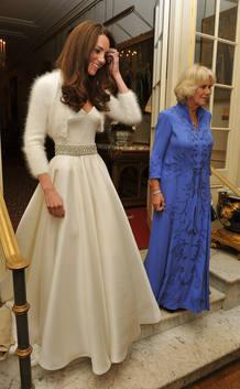 La duquesa de Cambridge, vestida para la noche.