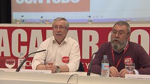 Ver vídeo  'CCOO y UGT han convocado una huelga general el 29 de marzo en contra de la reforma laboral'