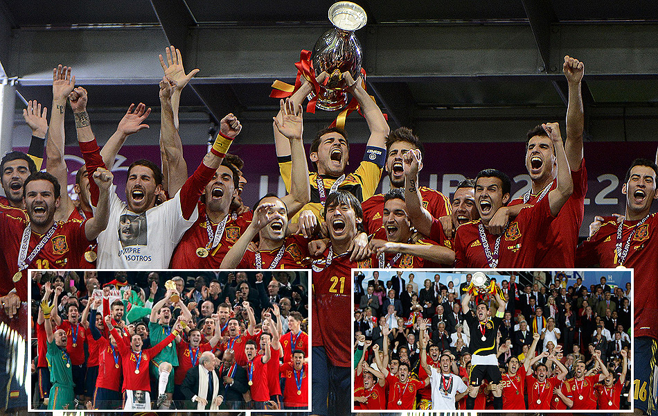 Casillas ha levantado el trofeo de la Eurocopa en 2012, en la Copa del Mundo de 2010 y en la Eurocopa de 2008