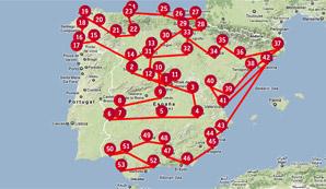 <center>Un recorrido por toda España</center>