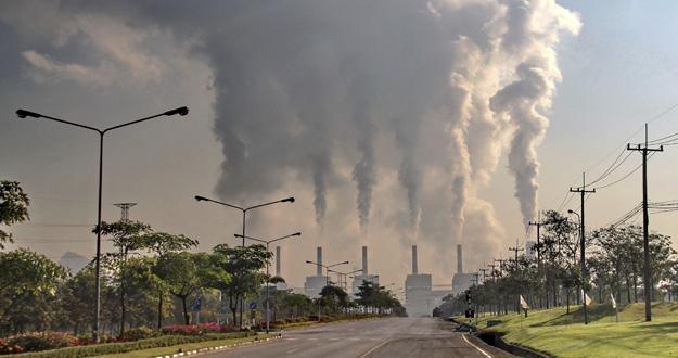 Una central eléctrica de carbón