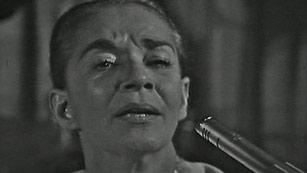 """Ver vídeo  'Chavela Vargas presentó su último disco """"Luna Grande"""" un homenaje a Lorca'"""