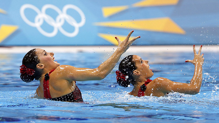 Las chicas de la sincronizada buscan la seguna medalla en Londres 2012