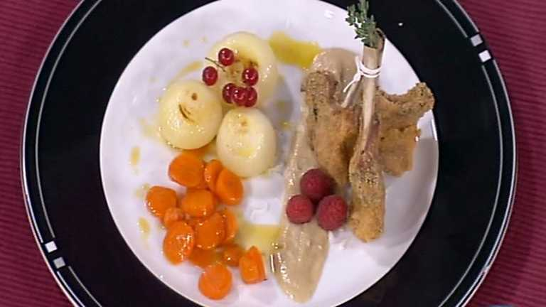 Cocina con Sergio - Chuletillas de cordero con salsa de setas