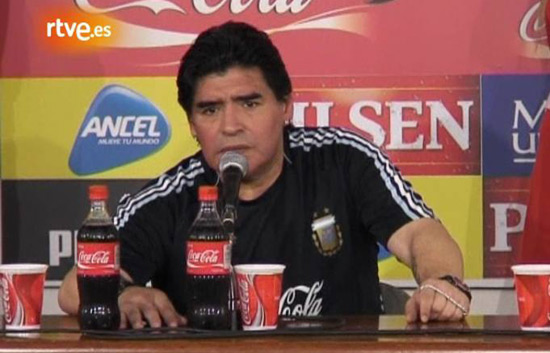Maradona: 'A los que no cre&iacute;an, que la chupen'