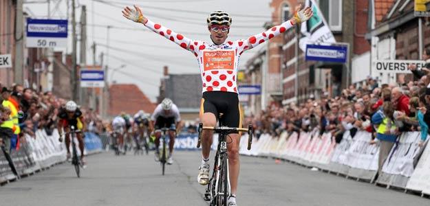 El ciclista español Samuel Sánchez gana el Criterium de Roeselare.