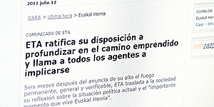 Cinco comunicados de ETA desde el alto el fuego de enero