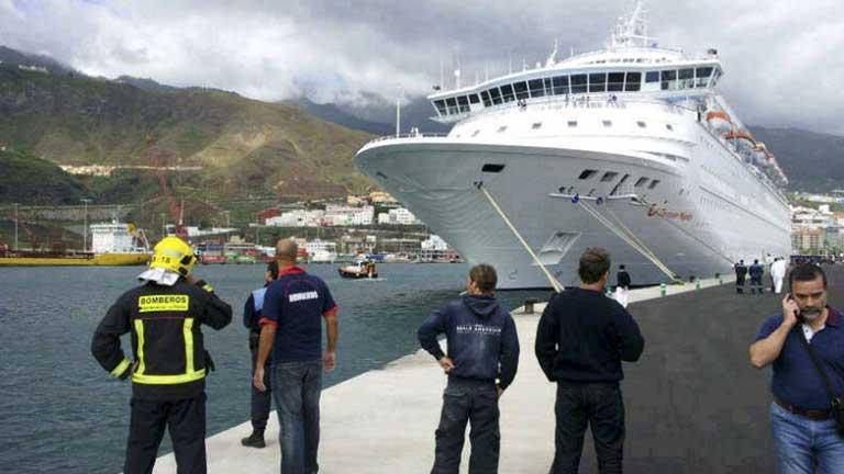 Cinco muertos en un simuilacro de emergencia en un crucero en Tenerife