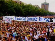 Los ciudadanos ocupan las calles para mostrar su repulsa por el asesinato de Miguel Angel Blanco
