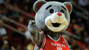 Clutch, una mascota muy bromista para los Houston Rockets