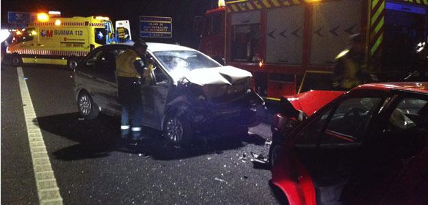 La colisión forntal es el accidente más frecuente en las carreteras de doble sentido.